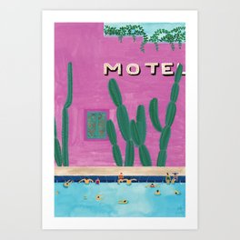 Motel Pool Art Print