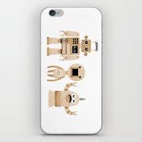 robots iPhone & iPod Skins featuring ROBOTS by Riku Ounaslehto