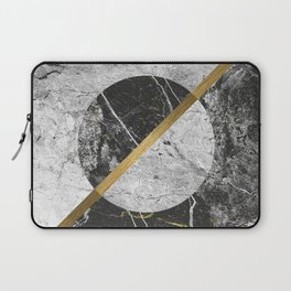 Contemporary gold marble 02 Laptop Sleeve