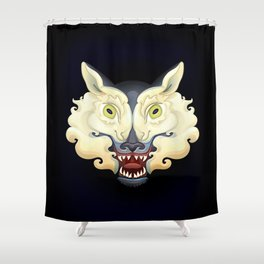 Wolf Lamb Shower Curtain