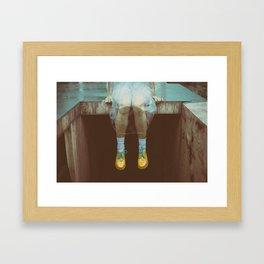 Sitting at the rain! Framed Art Print