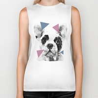 frenchie Biker Tanks featuring Frenchie by Esco