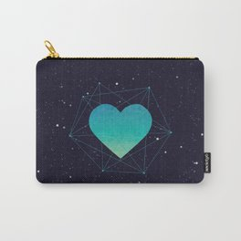 Heart In 3D Dimension Texture Carry-All Pouch