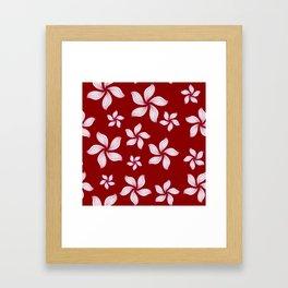 Hawaiian Island-Style Red Floral Framed Art Print