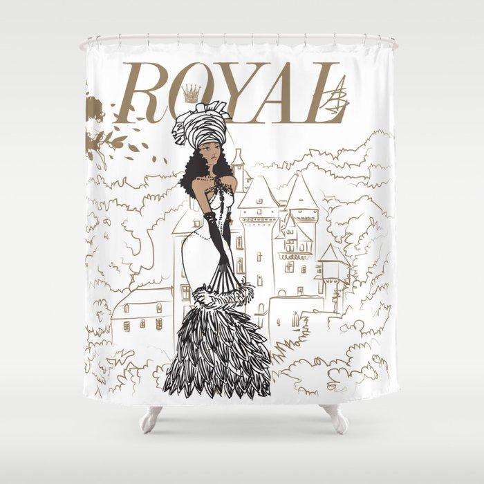 Kayla Royal Shower Curtain By Qara