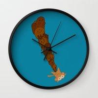 kawaii Wall Clocks featuring kawaii by Eva Puyal