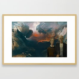 Managing the crops and corpses Framed Art Print
