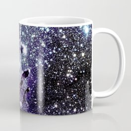 The Eagle Nebula : Pillars of Creation Deep Dark Blues & Purples Coffee Mug