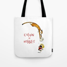 calvin and hobbes funny Tote Bag