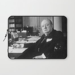 Winston Churchill at Number 10 Downing Street Laptop Sleeve