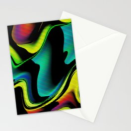 Hot abstraction with lines 4 Stationery Cards