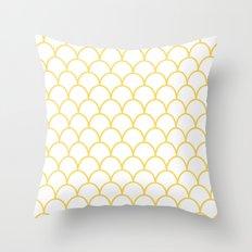 Yellow Scallops Throw Pillow