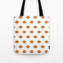 Texas longhorns orange and white university college texan football pattern Tote Bag