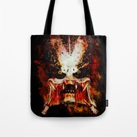 predator Tote Bags featuring Predator by Sirenphotos