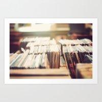 vinyl Art Prints featuring vinyl by Molly Peach
