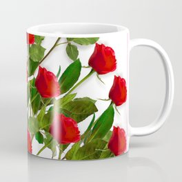 RED LONG STEMMED ROSES & PINK COLOR Coffee Mug