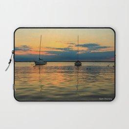 (Sailboats) At Bay Laptop Sleeve