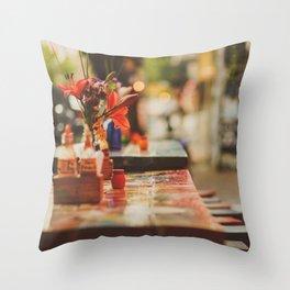 Summer early evening Throw Pillow