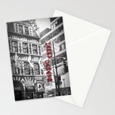 Red Harry Caray's Black and White Chicago Photography Stationery Cards