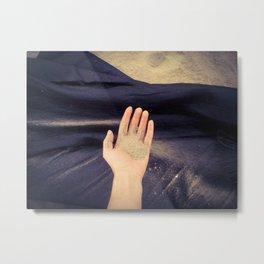 #handadventures with sand Metal Print