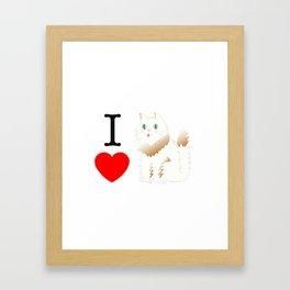 I Love Cats _white Framed Art Print