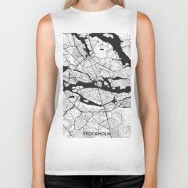 Stockholm Map Gray Biker Tank