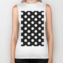 Polka Dot (White & Black Pattern) Biker Tank