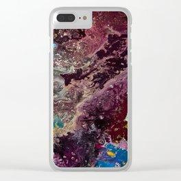 Cosmic blurr ll Clear iPhone Case