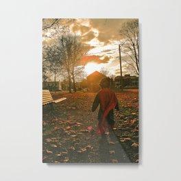 Superboy Sun Metal Print