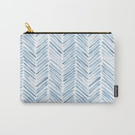 Baby blue watercolor herringbone  Carry-All Pouch