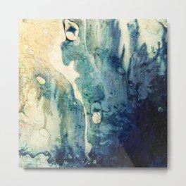 Modern Contemporary Abstract Blue Zen Design Metal Print