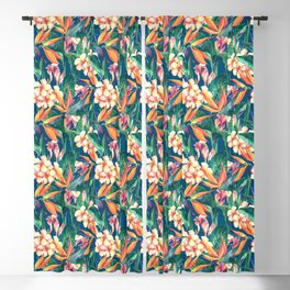 Tropical Bird Of Paradise Flowers Blackout Curtain