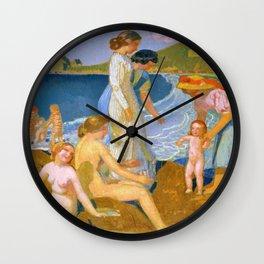 Bathers At Perros Guirec - Digital Remastered Edition Wall Clock