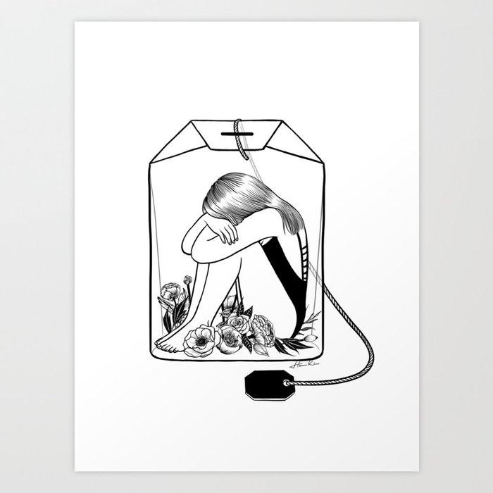 Lady Grey Tea Art Print
