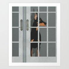 Guard Dog Doberman Pinscher Art Print