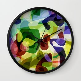 Abstract in Multi-Colours Wall Clock