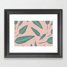 Leaves pink Framed Art Print
