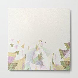 #Retro flying  #triangles Metal Print