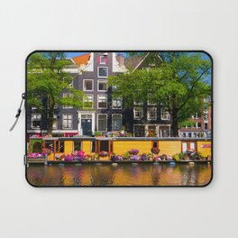 Houseboat in the summer sun Laptop Sleeve