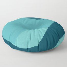 swell ocean and teal Floor Pillow