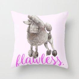 Pretty Poodle Throw Pillow