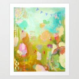 Inspiring lotus Art Print