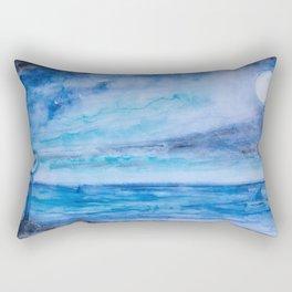 Sharks in love meeting Rectangular Pillow