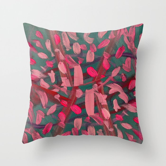 Vivacity in Pink Throw Pillow
