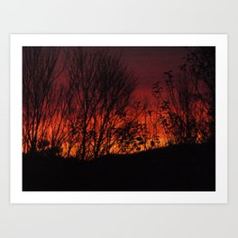 Burning Sky Art Print