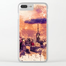 Sao Paulo - WaterColor 003A Clear iPhone Case