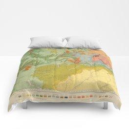 Vintage Southwest Map Comforters