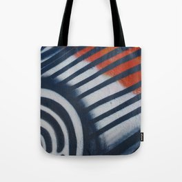 Red White & Blue Graffiti Tote Bag