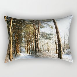Forest Snow Scene Rectangular Pillow