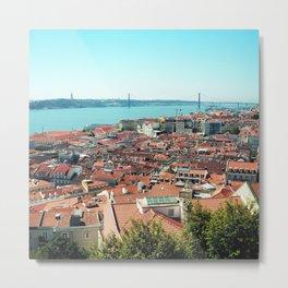Lisbon, Portugal Analog 6x6 Kodak Ektar 100 (RR 163) Metal Print